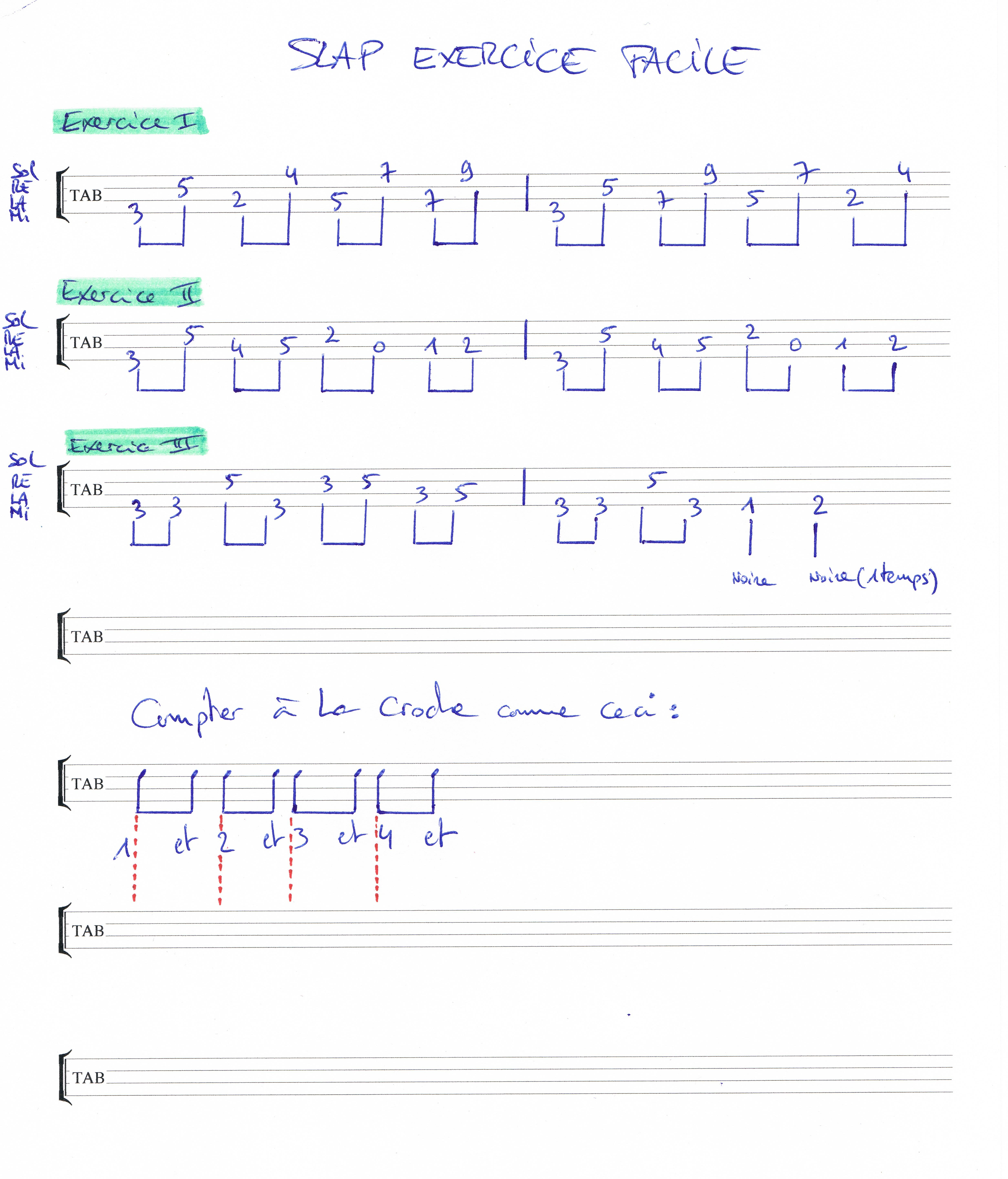 Slap facile débutant et rythme simple