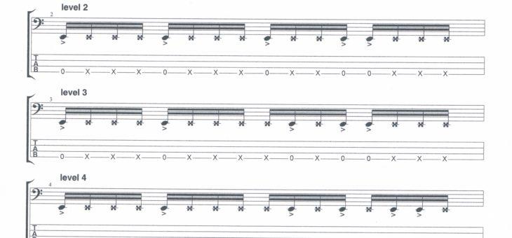Accents et ghost notes à la basse
