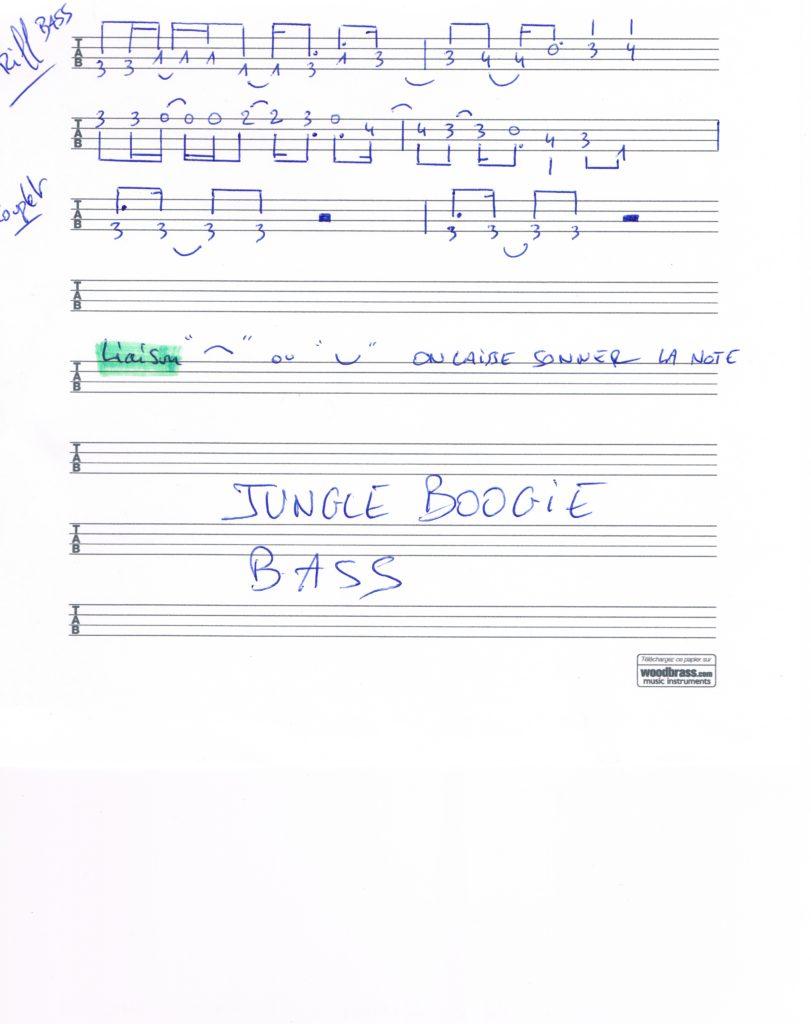Cours de basse funk, Jungle Boogie