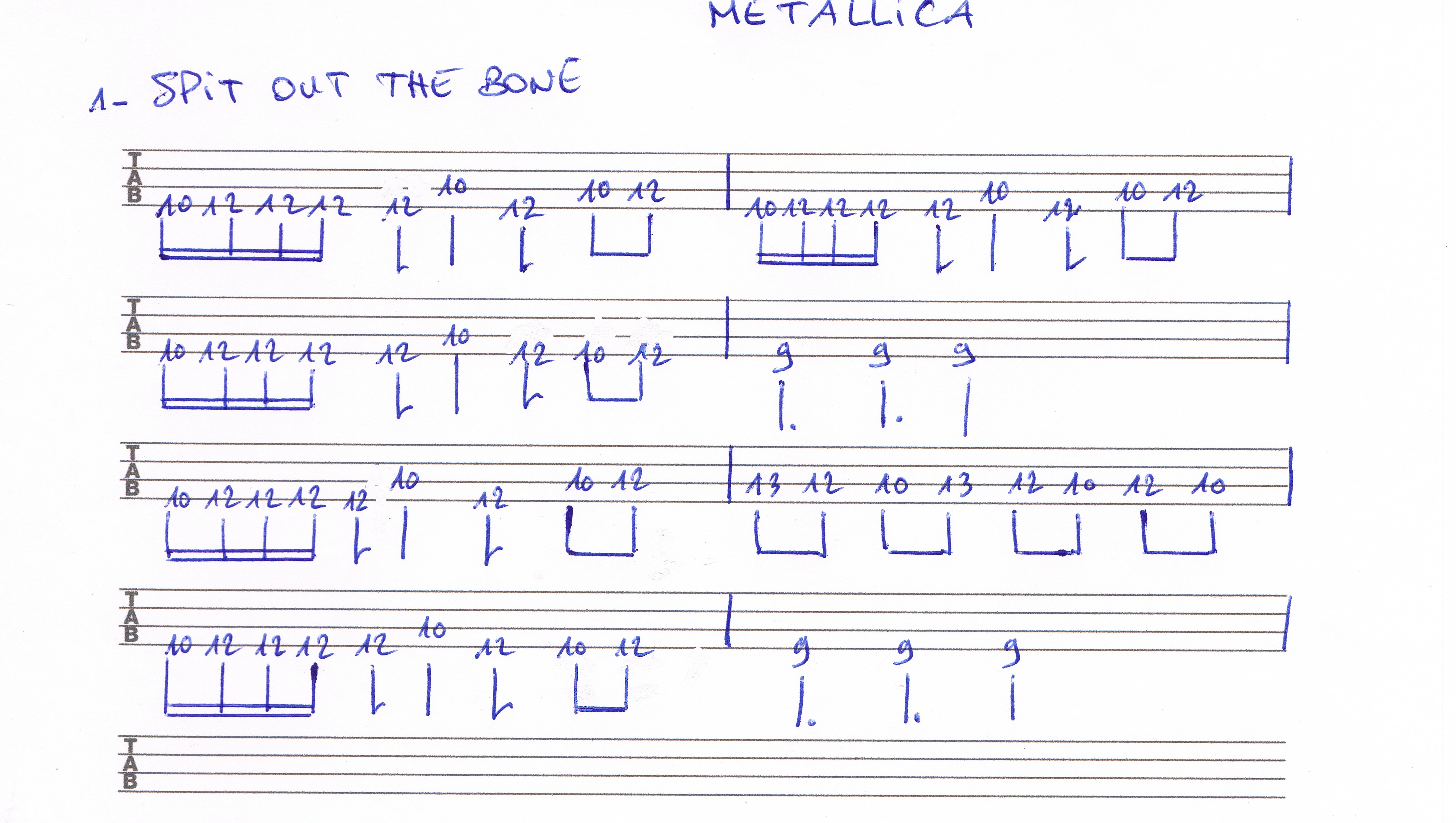 Metallica, Spit out the bone